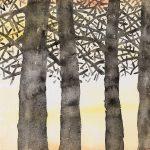 Albino Rossi, Montagne sognanti 2015-16, acquerello su carta, 31x41 cm.
