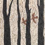 Albino Rossi, Piccoli mosaici 2013-14, mosaico su pannello, 30x40 cm.
