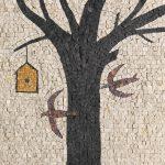 Albino Rossi, Piccolo mosaico, mosaico su pannello, 40x40 cm
