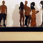 Corrado Zeni, Babel 7 figure, 2010, acciaio e specchio, cm 70x15x15
